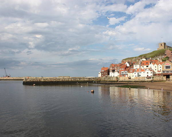 Whitby Poster featuring the photograph Whitby Abbey N.e Yorkshire by Jean Walker