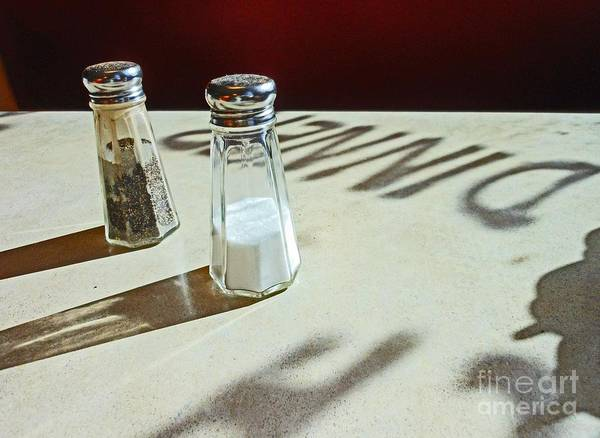 Salt Poster featuring the photograph White and Shadows by Beebe Barksdale-Bruner