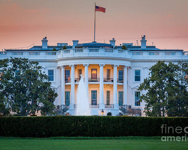 1600 Pennsylvania Avenue Poster featuring the photograph White House by Inge Johnsson