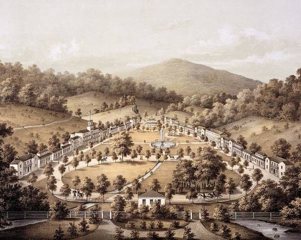 White Sulphur Springs Poster featuring the drawing White Sulphur Springs, Montgomery County, Va by Edward Beyer