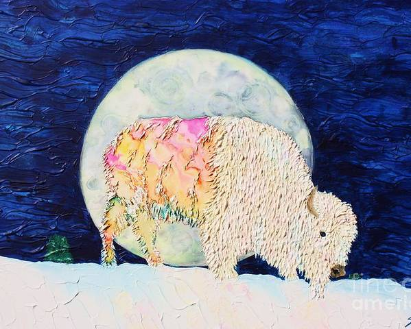 White Buffalo Poster featuring the painting White Tatanka by Van David