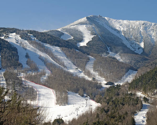Whiteface Poster featuring the photograph Whiteface Ski Mountain In Upstate New York Near Lake Placid by Brendan Reals