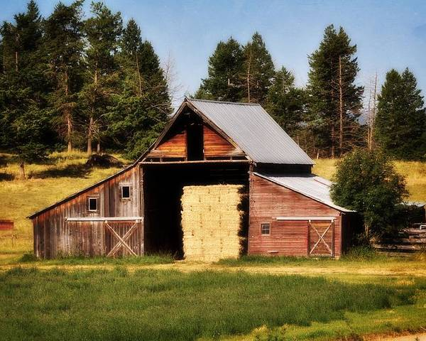 Barn Poster featuring the photograph Whitefish Barn by Marty Koch