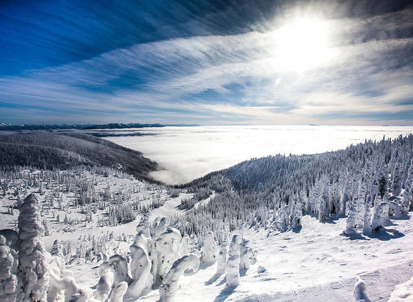 Sun Poster featuring the photograph Whitefish Inversion by Aaron Aldrich