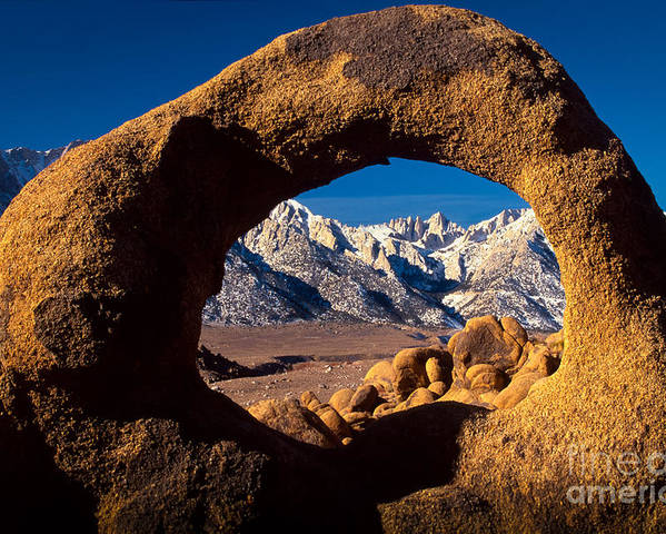 Alabama Hills Poster featuring the photograph Whitney Portal by Inge Johnsson