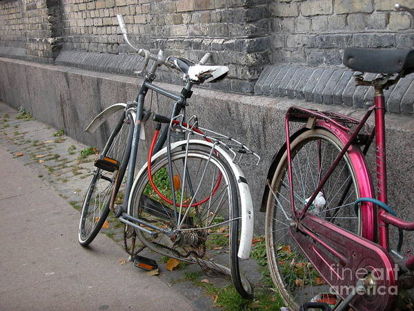 Bicycles Poster featuring the photograph Why Lock by Jim Goodman