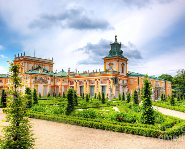 Warsaw Poster featuring the photograph Wilanow Palace In Warsaw Poland by Michal Bednarek