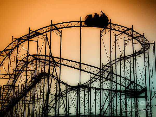 Rollercoaster Poster featuring the photograph Wild At Night by Colleen Kammerer