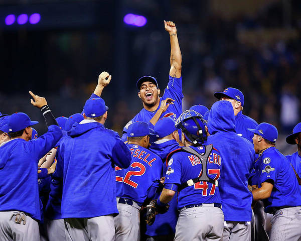 Playoffs Poster featuring the photograph Wild Card Game - Chicago Cubs V by Jared Wickerham