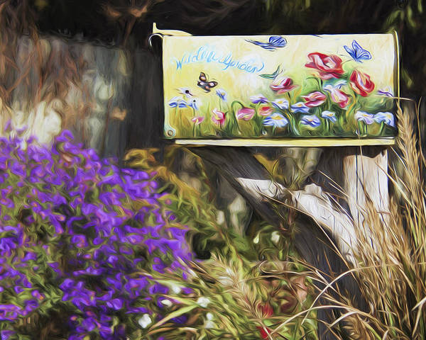 Mailbox Poster featuring the photograph Wildlife's Mailbox by Sharon M Connolly