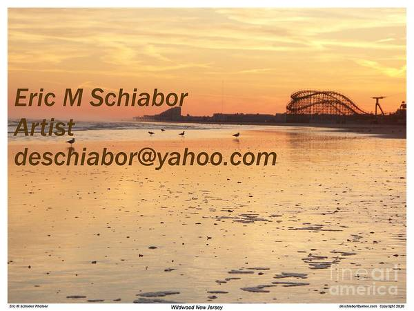 Wildwood Sunset Poster featuring the photograph Wildwood Sunset by Eric Schiabor