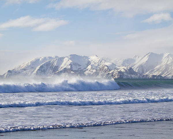 Alaska Poster featuring the photograph Wind And Waves On Kodiak by Tim Grams