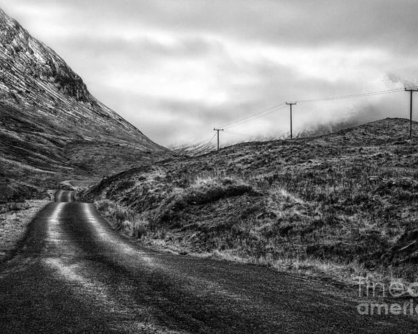 Beautiful Scotland Poster featuring the photograph Winding Road In Glen Etive by John Farnan