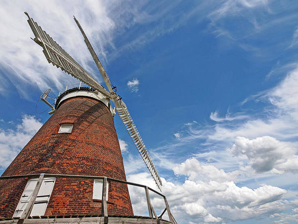 Windmill Poster featuring the photograph Windmill In The Sky by Gill Billington