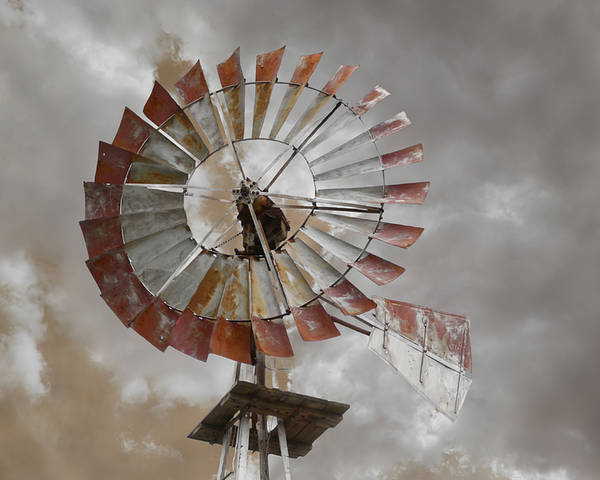 Sky Poster featuring the photograph Windmill by Steven Michael