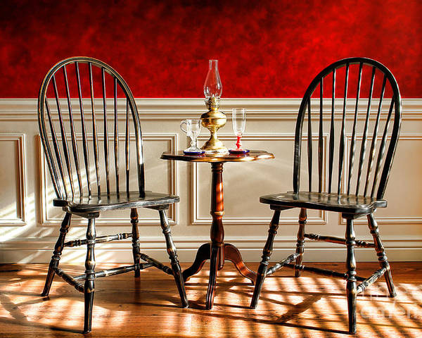 Windsor Poster featuring the photograph Windsor Chairs by Olivier Le Queinec