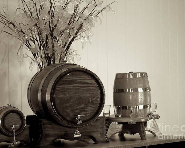 Wine Service Poster featuring the photograph Wine Barrels by Alanna DPhoto