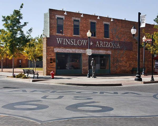 Famous Poster featuring the photograph Winslow Arizona - Such A Fine Sight To See by Christine Till