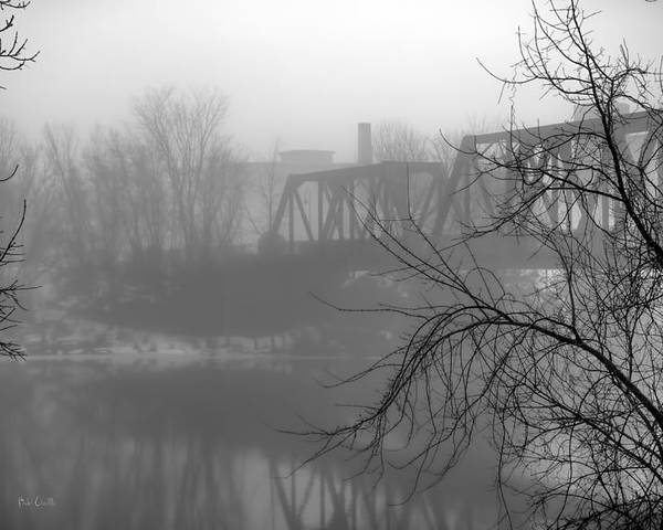 Landscape Poster featuring the photograph Winter Fog by Bob Orsillo