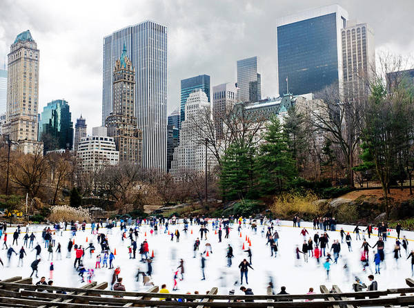New York City Poster featuring the photograph Winter Fun by Davids Digits