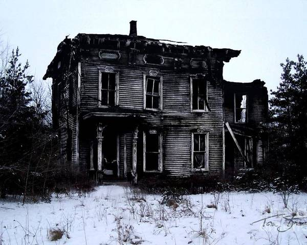 Haunted House Poster featuring the photograph Winter Home by Tom Straub