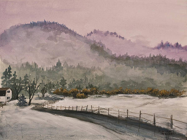 California Landscape Poster featuring the painting Winter In Quincy by Darice Machel McGuire