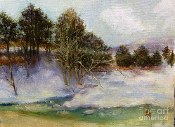 Winter Scene Poster featuring the painting After the Impressionists by Kathleen Hoekstra