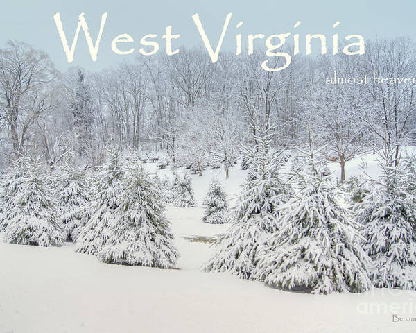 West Virginia Poster featuring the photograph Winter In West Virginia by Benanne Stiens