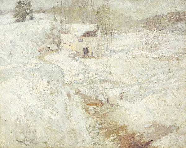 1890s Poster featuring the painting Winter Landscape by John Henry Twachtman