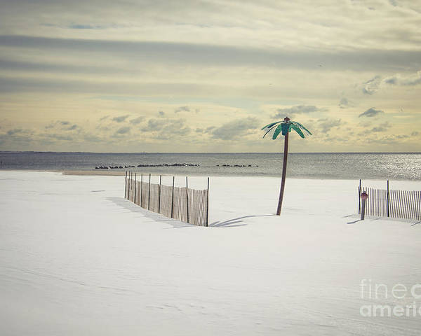 Coney Island Poster featuring the photograph Winter Paradise by Evelina Kremsdorf