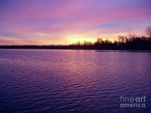 Winter Sunrise Poster featuring the photograph Winter Sunrise by John Telfer