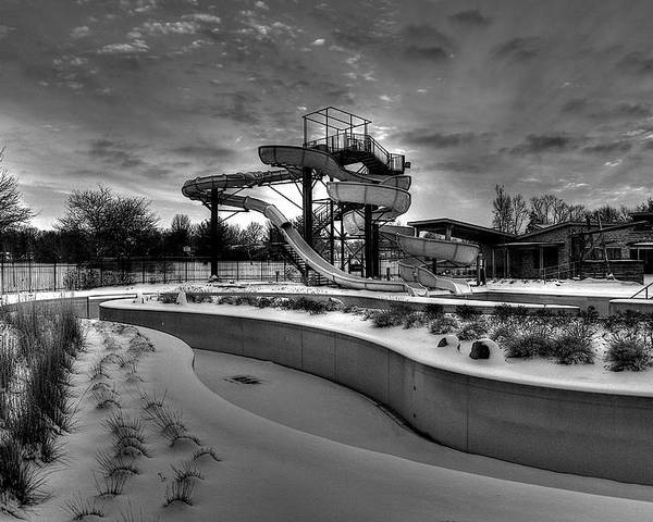 Waterpark Poster featuring the photograph Winter Water Park by William Wetmore