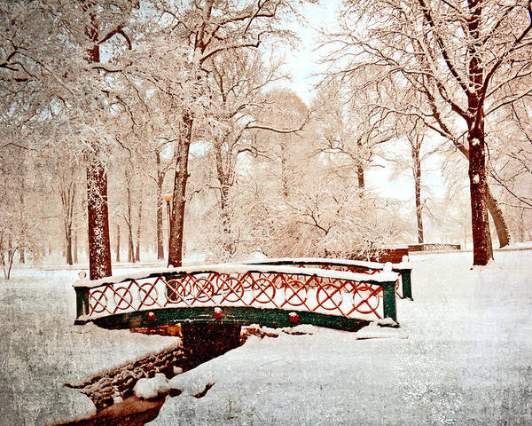Bridge Poster featuring the photograph Winter's Bridge by Marty Koch