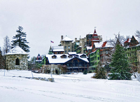 Mohonk Poster featuring the photograph Wintertime by Claudia Kuhn