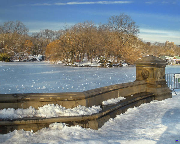 Central Park Poster featuring the photograph Wintery Afternoon At Bathsheba Terrace by Muriel Levison Goodwin