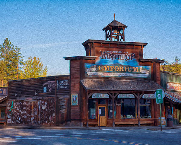 North Cascades Poster featuring the painting Winthrop Emporium by Omaste Witkowski