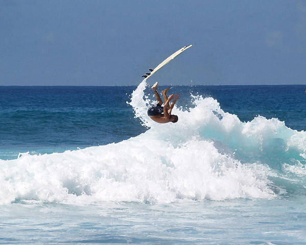 Surfing Poster featuring the photograph Wipe Out by Athala Carole Bruckner
