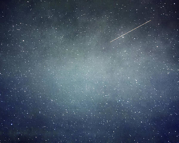 Night Poster featuring the photograph Wish Upon A Star by Violet Gray