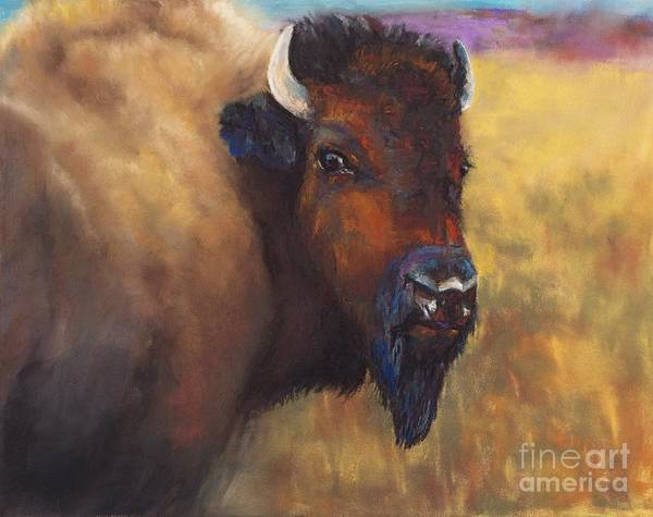 Bison Poster featuring the painting With Age Comes Beauty by Frances Marino