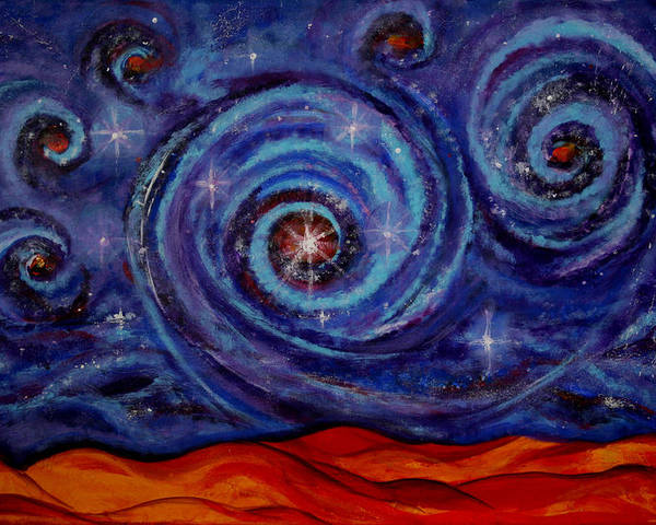 Star Poster featuring the painting Witness by Kathy Peltomaa Lewis