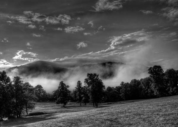 Western North Carolina Poster featuring the photograph Wnc Morning In Black And White by Greg Mimbs