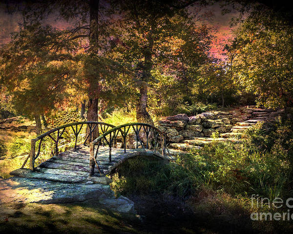 Tulsa Poster featuring the photograph Woddard Park Bridge II by Tamyra Ayles
