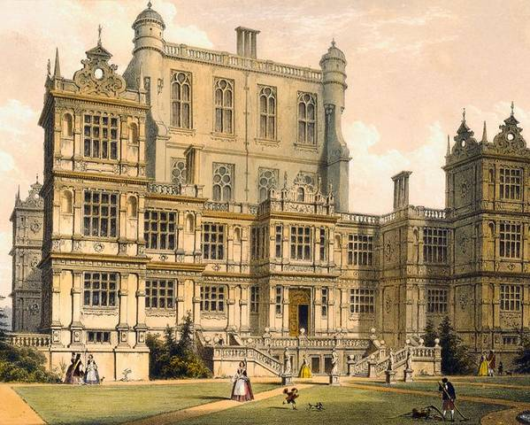 Stately Home Poster featuring the drawing Wollaton Hall, Nottinghamshire, 1600 by Joseph Nash