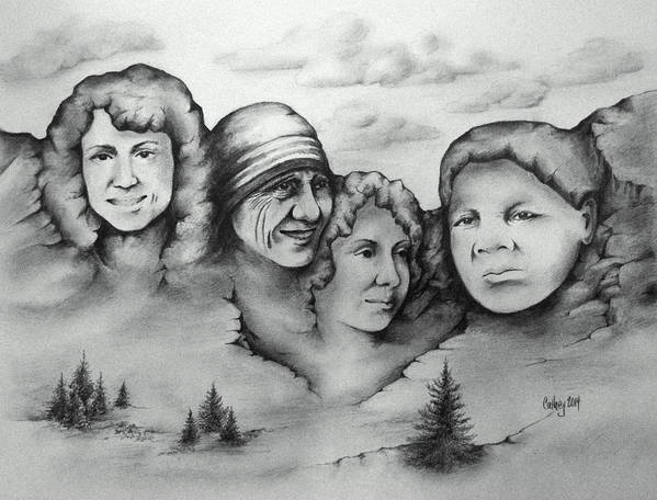 Christa Mcauliffe Poster featuring the drawing Women Who Rock by Catherine Howley