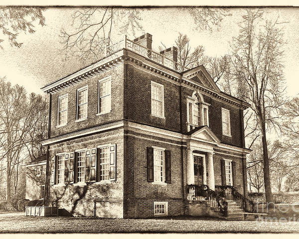 Woodford Poster featuring the photograph Woodford Mansion by Olivier Le Queinec