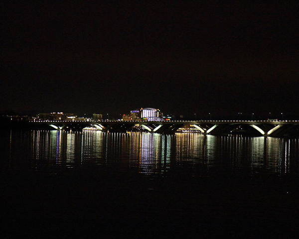 Washington Poster featuring the photograph Woodrow Wilson Bridge - Washington Dc - 011343 by DC Photographer