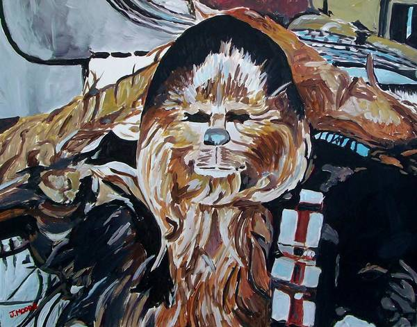 Chewbacca Poster featuring the painting Wookiees Are Known To Do That by Jeremy Moore