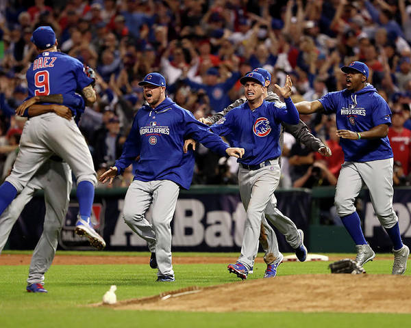 American League Baseball Poster featuring the photograph World Series - Chicago Cubs V Cleveland by Elsa