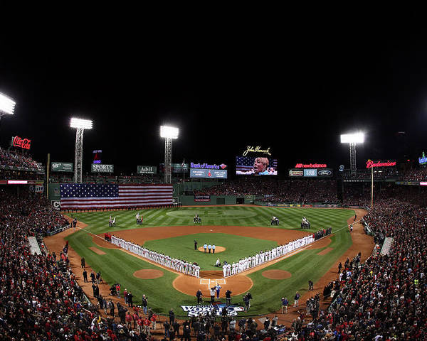 American League Baseball Poster featuring the photograph World Series - St Louis Cardinals V by Alex Trautwig