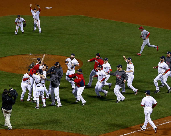 Playoffs Poster featuring the photograph World Series - St Louis Cardinals V by Jamie Squire